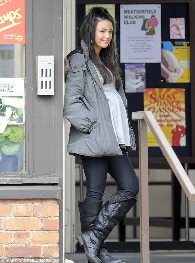Back to work: Michelle is currently shooting scenes for Corrie as a heavily pregnant Tina McIntyre