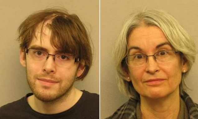 Elementary school teacher, 59, and her son arrested for 'growing marijuana in the closet of their upstairs bedroom'