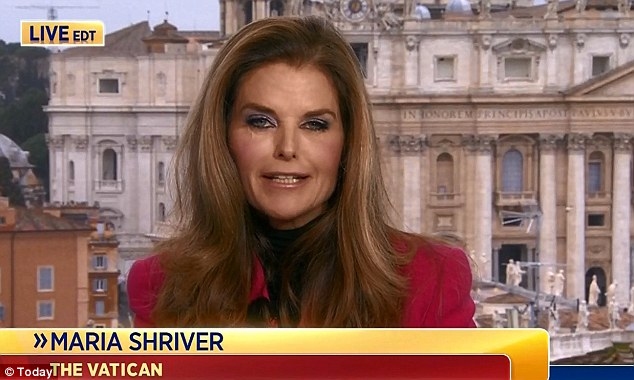 She's back: Maria appeared during the Today show's special broadcast on the selection of the new pope in March