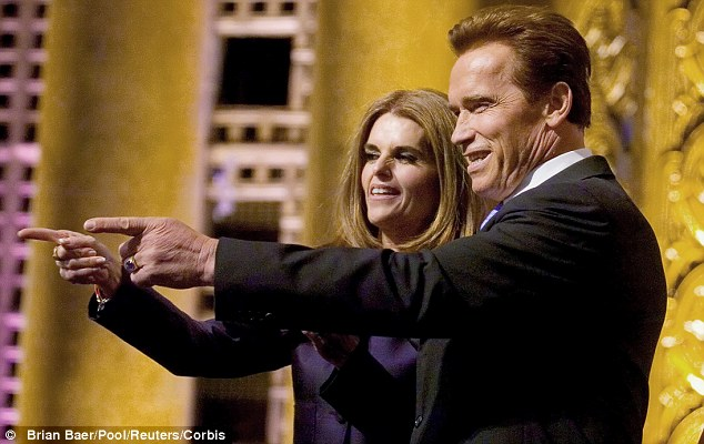 Split: The couple, pictured here in 2007, split and then divorced in 2011 after Schwarzenegger admitted to having a love child