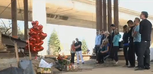 Remembered: Friends gathered to remember Andrey Petvov who fell to his death from a freeway overpass