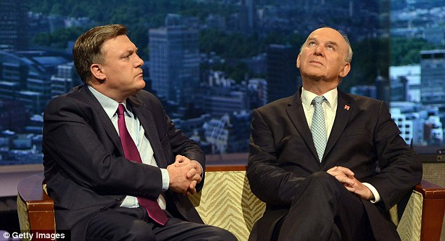 Vince Cable (right) and Ed Balls, the Shadow Chancellor, argue that if we only borrowed more, we could kick-start the economy. This is doublethink: 'To cut the amount I owe, I should borrow more'