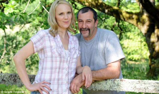 Samantha and Pascal at home in picturesque France