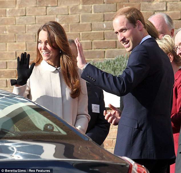 The Duke and Duchess of Cambridge arrive in the spring sunshine in Saunderton, Buckinghamshire, to visit the offices of Child Bereavement UK