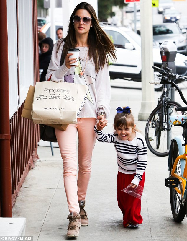 Her little Angel: It seems Alessandra is laying on new after-school activities for her four-year-old