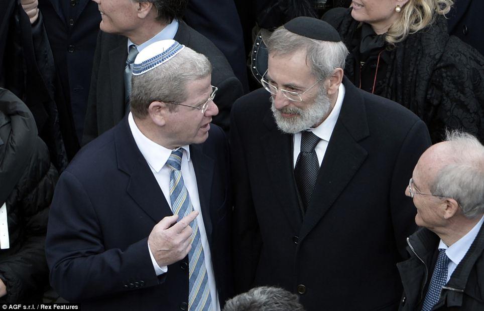 Inclusive: Riccardo Di Segni chief Rabbi attended the ceremony at the Vatica