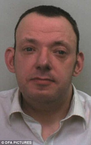 Jailed: Simon Heritage, 38, of Coventry, West Midlands, was arrested within hours of the attack