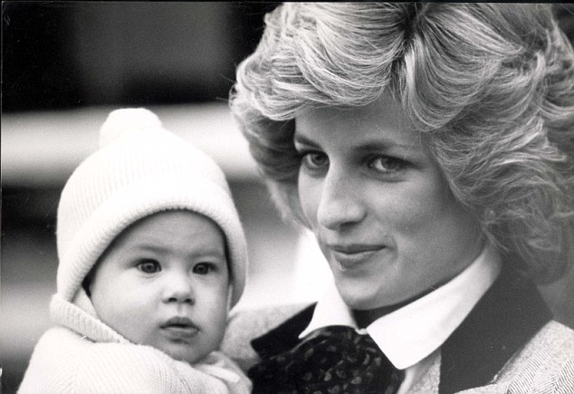 Prince Harry, pictured with his mother in 1985, also had a Dragons of Walton Street nursery as a baby