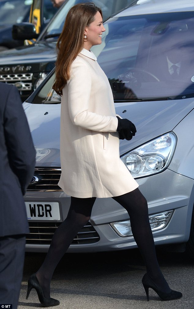 Kate managed to steer clear of any rogue grates in the road following her St Patrick's Day slip-up