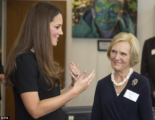 he royal couple met the Great British Bake Off star and cookery writer during a visit to the headquarters of Child Bereavement UK in Buckinghamshire