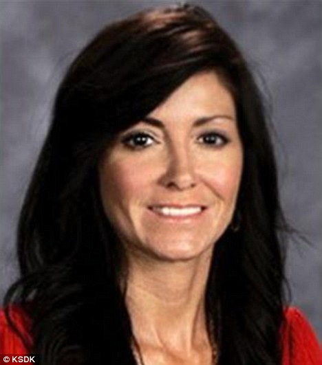 Suspended: Wendy Bunnell was placed on leave from Salem Elementary School in Illinois after her arrest