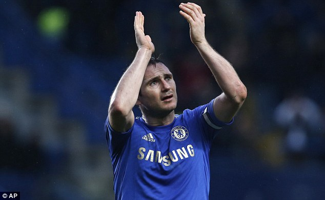 On his way? Frank Lampard will discuss his future with England manager Roy Hodgson