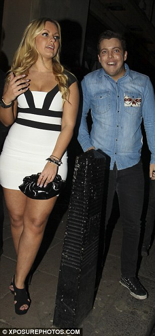 Good night then? TOWIE stars Tom Pearce and James 'Diags' Bennewith were seen leaving DSKTRK nightclub with a bevvy of busty blondes on Tuesday night