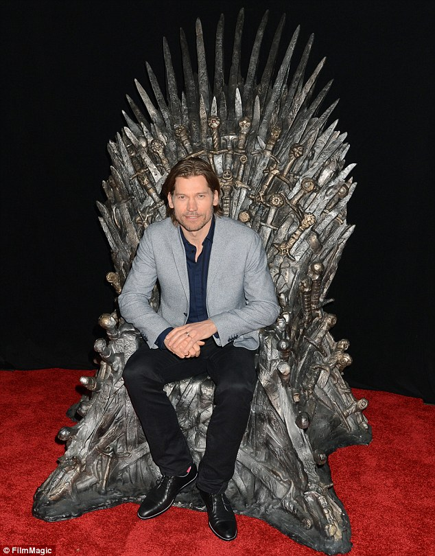 On his throne: Television star Nikolaj Coster-Waldau, who plays Jaime Lannister, also attended the event
