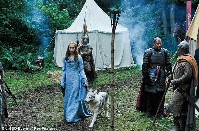 On the small screen: Sophie Turner plays Sansa Stark in Game Of Thrones, season one