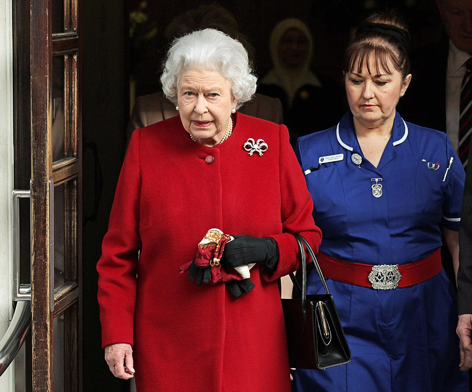 Visit: Queen Elizabeth will today carry out her first public engagement in more than a week after she was treated for gastroenteritis at King Edward VII's Hospital, pictured, in London