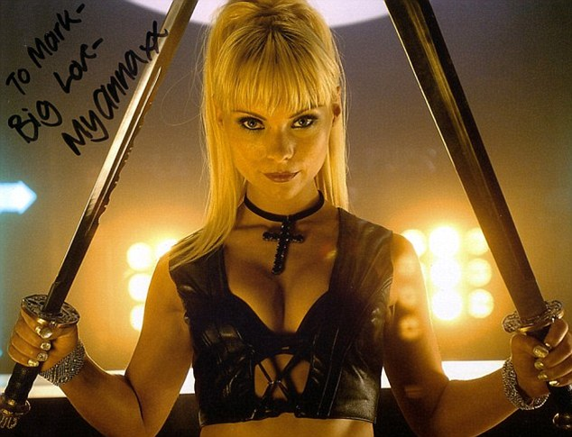 Racy: The Swedish actress previously starred in raunchy comedy Lesbian Vampire Killers