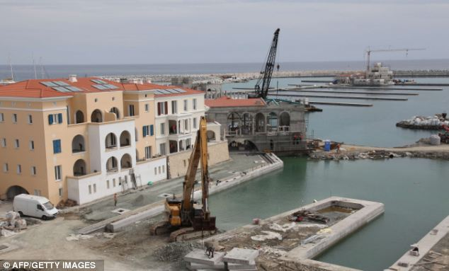 The construction site of the Limassol Marina. There are so many Russians in Limassol that it is regularly referred to as 'Limassolgrad'