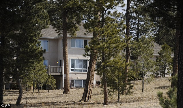 Crime scene: Clements was found dead from a gunshot wound to the chest at his wooded home in Monument, Colorado (pictured)
