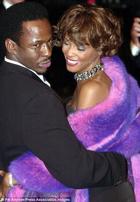 In happier times: Bobby and his then-wife Whitney Houston attended the Vanity Fair Post Oscars Party in Los Angeles, California