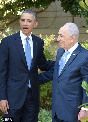 President Obama arrived at Shimon Peres' residence in Jerusalem today after touching down in Israel for his first visit as U.S. leader