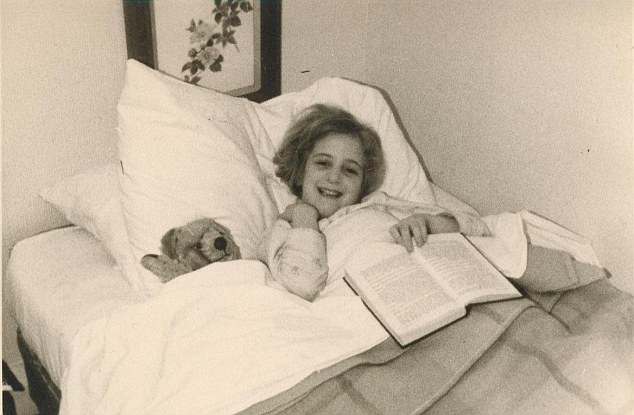 Annie as a six-year-old at her childhood home  in Surrey