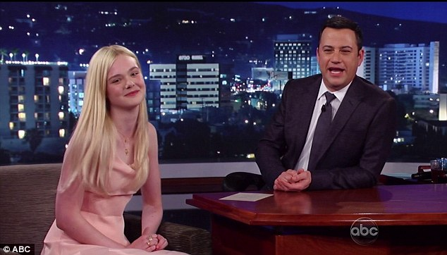 Star guest: Elle and Jimmy Kimmel on Wednesday night's episode of his chat show