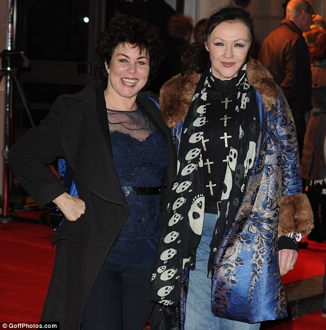 Girls' night out: Comedienne Ruby Wax and actress Frances Barber attended together