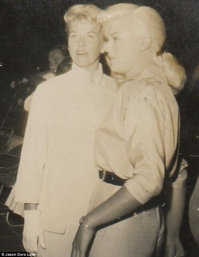 Hollywood legends: Diana pictured with Doris Day