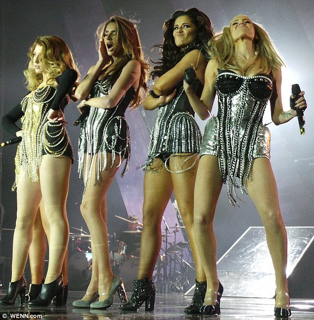 Fierce: The girlband seemed determined to go out in style as they said a final farewell to their fans
