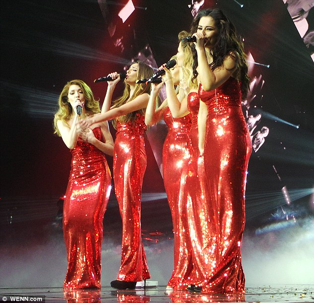 Time to say goodbye: The girls officially called time on their union at their gig at Liverpool's Echo Arena on Wednesday night