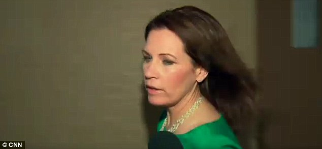 Top speed: The inquiring reporter was CNN's Dana Bash, who caught Bachmann in a hallway between meetings to ask her about the allegations
