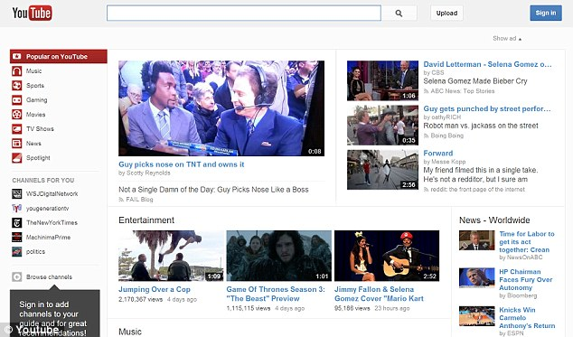 Record-breaking: YouTube says more than one billion people are now visiting its online video site each month