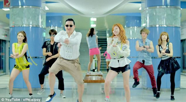 Oooh, baby baby: Gangnam Style has been viewed nearly 1.5billion times on YouTube