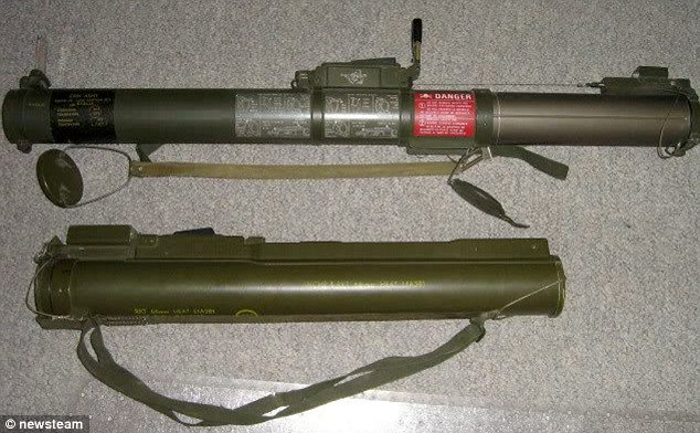 Lethal: This rocket launcher capable of blowing up a tank was found under the bed of ex-soldier Mark Chalcroft