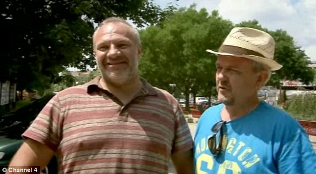 Salsa instructor Wayne Middleton (left) on the Channel 4 show