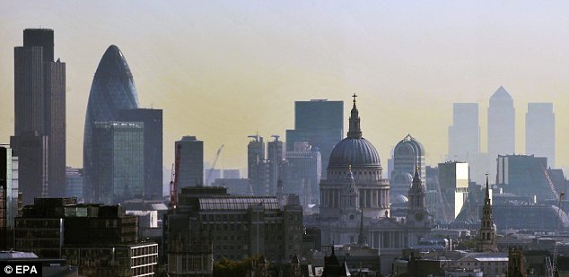 Wealth: The citadels of the Square Mile and Canary Wharf are tributes to the commercial ingenuity of banks