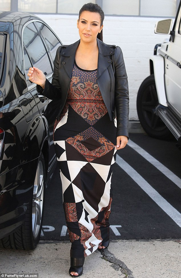 Pregnancy style: Kim blogged about her outfit, revealing she's becoming fond of maxi dresses since becoming pregnant