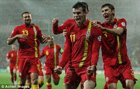 Matchwinner: Gareth Bale struck twice against Scotland in Cardiff last year