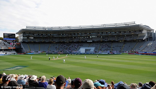 Ideal conditions: Fans settle down for a full day's cricket
