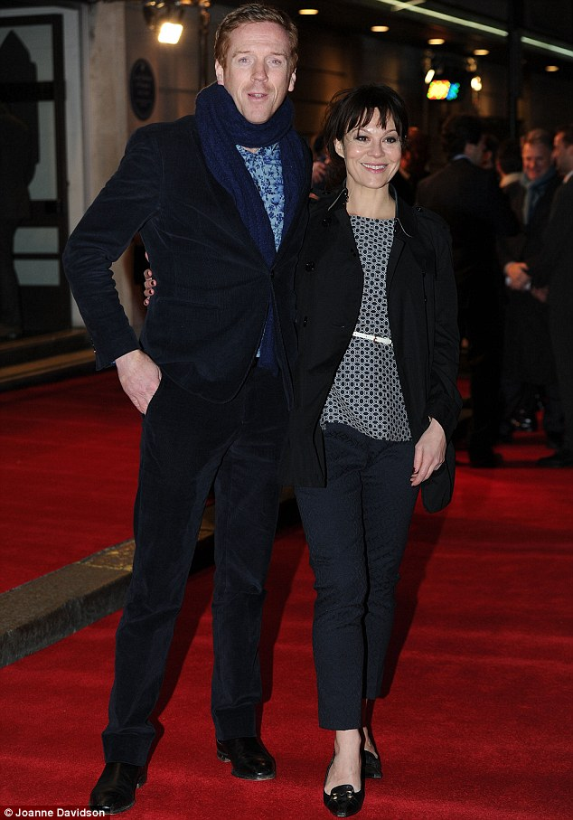In his Homeland: Actor Damian Lewis and actress wife Helen McCrory