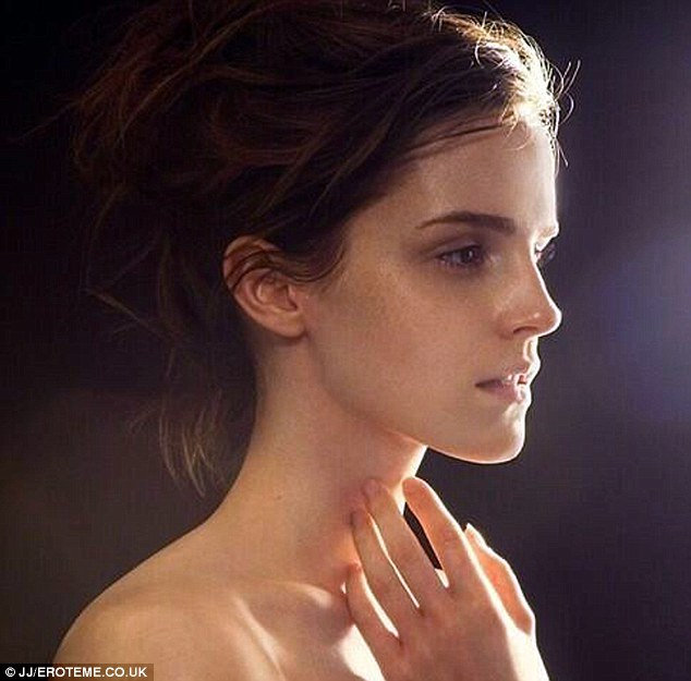 Ethereal: The actress tweeted a photo of herself from the shoot, asking her followers to support the cause