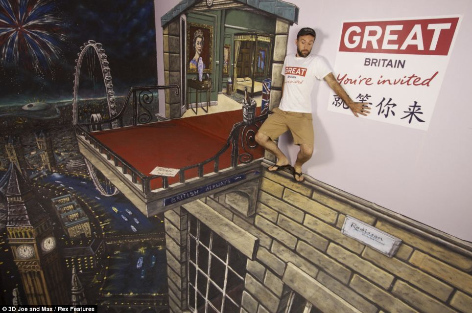 Artwork was produced specially as part of Visit Britain's award-winning GREAT? campaign to encourage tourism in the run-up to the Diamond Jubilee and the London 2012 Olympics