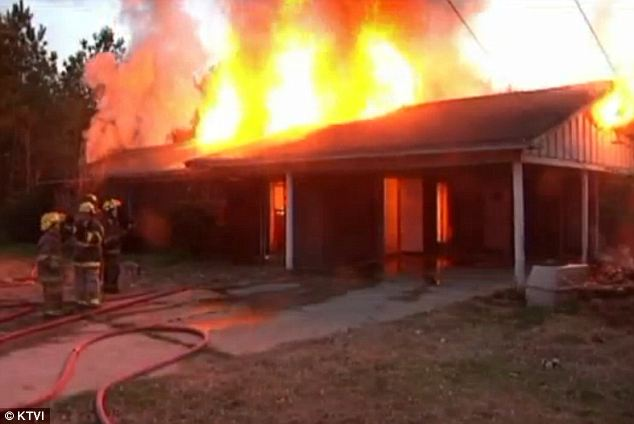Sad irony: A Texas home was set ablaze after a burning snake, doused in gas and lit by the homeowner, slithered away and took the fire with it