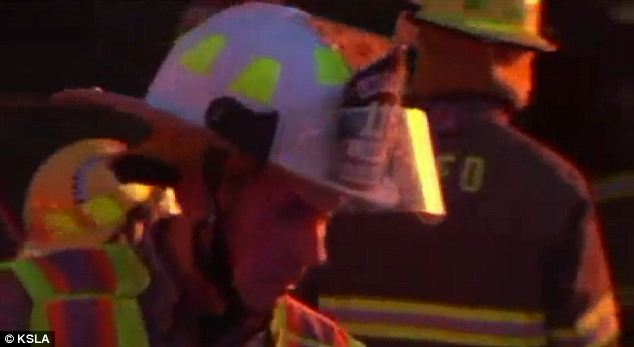 Hopeless: Despite the best efforts of firefighters, the woman's home was a complete loss