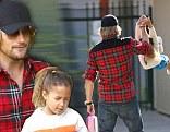 Gabriel Aubry and Nahla go to school in Los Angeles CA