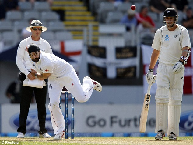 Spin king: Monty Panesar was given an early bowl by Alastair Cook