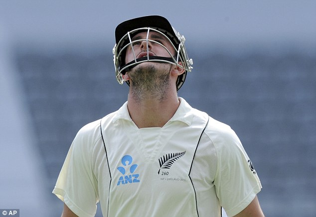 Missing out: Hamish Rutherford's was the only wicket to fall in the morning session