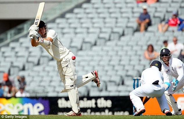 Two-metre Peter: Fulton plays into the leg side
