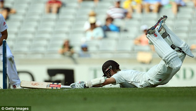 Kane's able: Williamson dives home into his ground